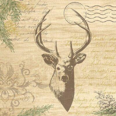 Duni szalvéta My Deer 3rtg 33x33cm 10x50db/gyűjtő