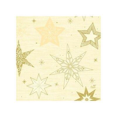 Duni szalvéta Star stories cream 3rtg 33x33cm 4x250db/gyűjtő