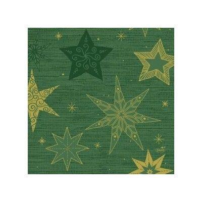 Duni szalvéta Star stories green 3rtg 33x33cm 4x250db/gyűjtő