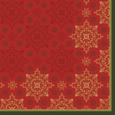 Duni szalvéta Xmas deco red 3rtg 40x40cm 4x250db/gyűjtő