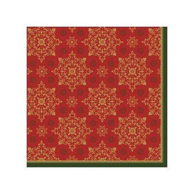Duni classic szalvéta Xmas deco red 4rtg 40x40cm 6x50db/gyűjtő