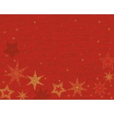 Duni papír alátét Star stories red 30x40cm 4x250db/gyűjtő
