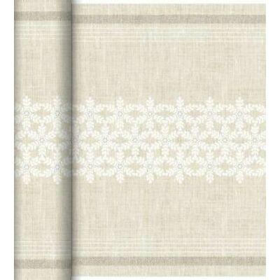 Dunicel Téte-a-Téte asztali futó Linen snow 0,4x24m 4tek/gyűjtő