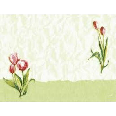 Dunicel asztalközép Red tulip 84x84cm 1x100db/gyűjtő