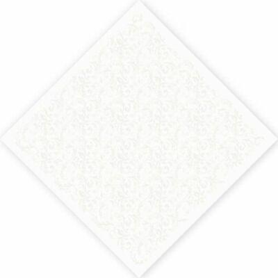 Dunicel asztalközép Saphira white 84x84cm 5x20db/gyűjtő