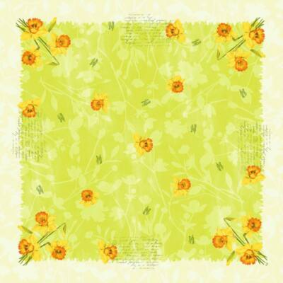 Dunisilk asztalközép Spring flowers 84x84cm 5x20db/gyűjtő