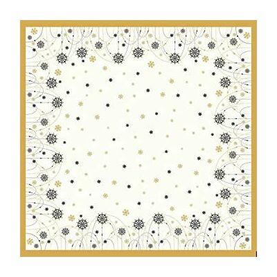 Dunicel asztalközép Snowflake necklace white 84x84cm 5x20db/gyűjtő