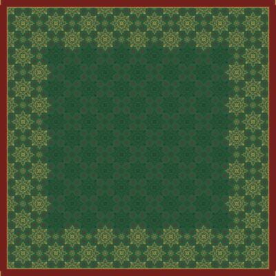 Dunicel asztalközép Xmas deco green 84x84cm 5x20db/gyűjtő