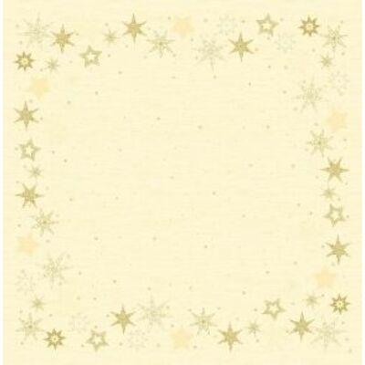 Dunicel asztalközép Star stories cream 84x84cm 10x5db/gyűjtő