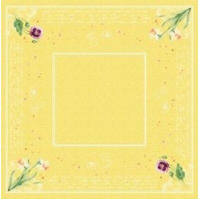 Dunisilk asztalközép Spring lilies 84x84cm 5x20db/gyűjtő