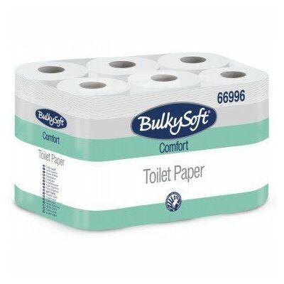 BulkySoft comfort kistekercses toalettpapír 2rtg 180lap 18m fehérített 8x12tek/gyűjtő