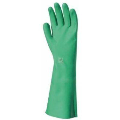 Kesztyű Nitril könyékig érő, zöld 8