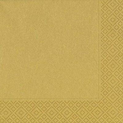 Duni szalvéta arany 3rtg 33x33cm 12x20db/gyűjtő