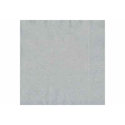 Duni szalvéta ezüst 3rtg 33x33cm 12x20db/gyűjtő