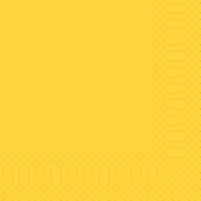 Duni szalvéta sárga 3rtg 33x33 10x50db/gyűjtő