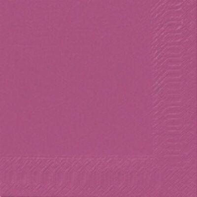 Duni mintás szalvéta fuchsia 3 rétegű 33x33cm 12x20db