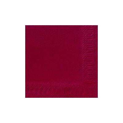 Duni szalvéta bordó 3rtg 24x24cm 8x250db/gyűjtő