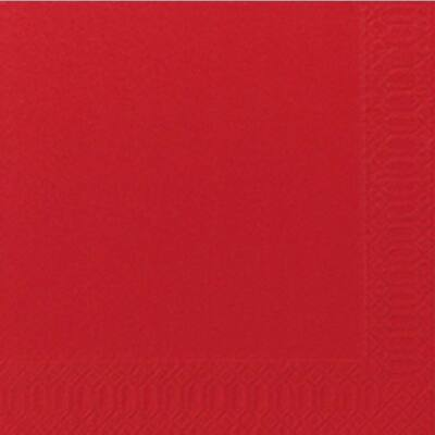 Duni szalvéta piros 2rtg 33x33cm 16x125db/gyűjtő