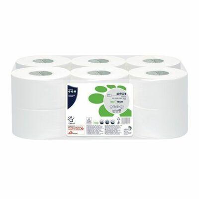 Papernet BioTech mini közületi toalettpapír 2 rtg 19 cm fehér cell 140m 12 tek/zsák