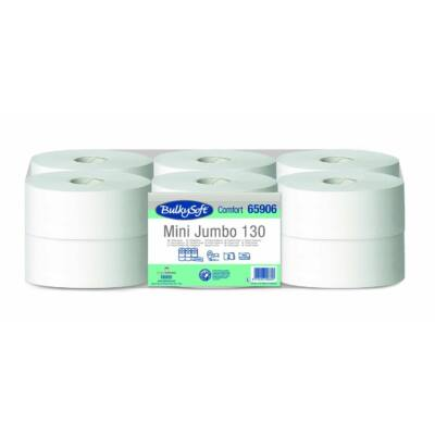 BulkySoft comfort mini jumbo toalettpapír 2rtg M9 D18 130m fehérített 12tek/gyűjtő