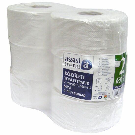 Trend mini toalettpapír 2rtg M9 D19 134m 670lap fehérített 6tek/gyűjtő