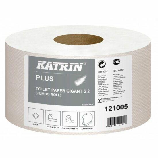 Katrin classic gigant S2 130 toalettpapír 2rtg M9,5 D18 520lap 130m fehérített 12tek/gyűjtő