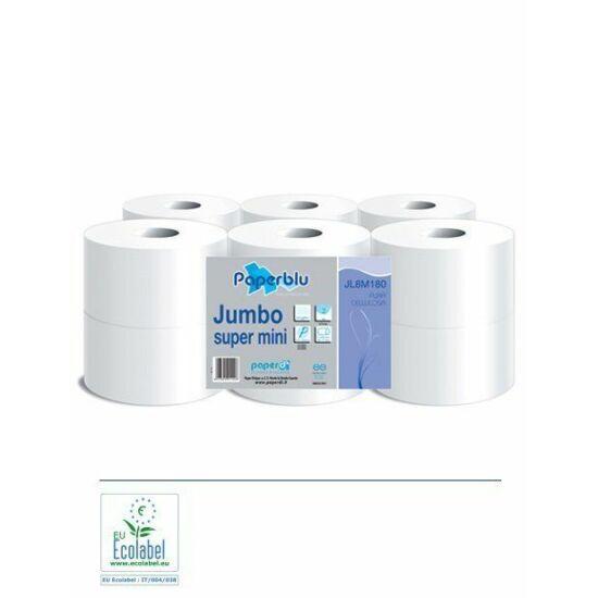 Közületi tekercses toalettpapír 2rtg cell 180m átm 20cm 12tek/zsák