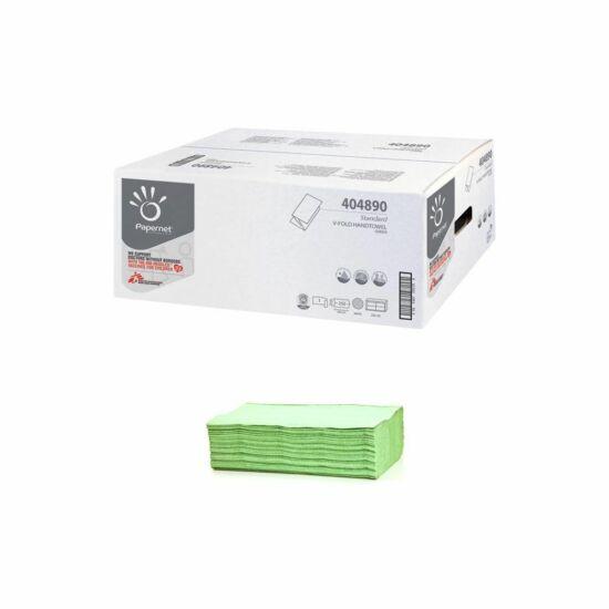 Papernet Standard V hajtogatott kéztörlő zöld 1rtg 24,5x23cm 250lap rec 20cs/gyűjtő