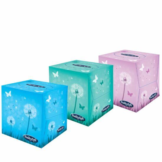 BulkySoft cube kozmetikai kendő 3rtg 21x21cm 24x60db/gyűjtő