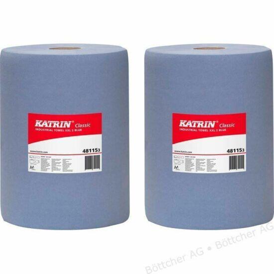 Katrin classic XXL2 ipari tekercses törlőpapír kék 2rtg M38 D28 500lap 190m rec 2tek/gyűjtő