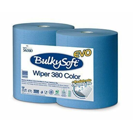 BulkySoft premium belsőmagos ipari törlőpapír kék 2rtg M36 D28 1000lap cell 2tek/gyűjtő