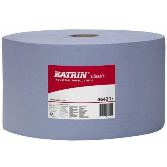 Katrin classic ipari törlő L3 kék, 3 rtg, 39 cm, 1000 lapos, 2x1 tekercs/zsák