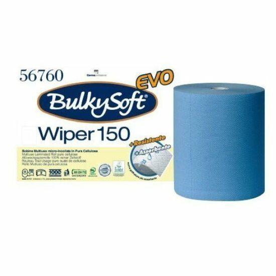 BulkySoft excellence ipari törlőpapír kék 3 rtg M26 D26 500lap 150m 2tek/gyűjtő