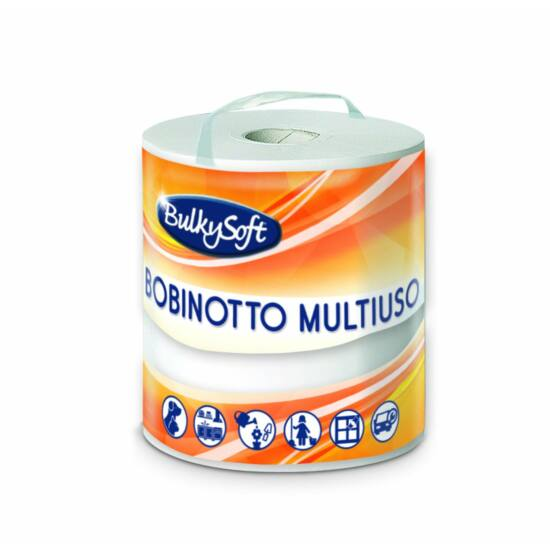 BulkySoft multiuse belsőmagos ipari törlőpapír 2rtg M21,5 D16 300lap 63m 10tek/gyűjtő