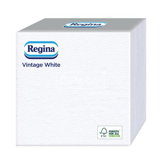 Regina Vintage szalvéta fehér 1rtg 33x33cm 20x60db/gyűjtő