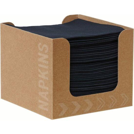 Dunisoft szalvéta, fekete, 20x20cm adagolóban 24x50db