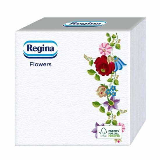 Regina Virág matyó mintás szalvéta 1rtg 33x33cm 24x45db/gyűjtő
