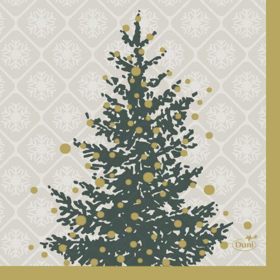 Duni szalvéta Trees in gold 3rtg 24x24cm 12x20db/gyűjtő