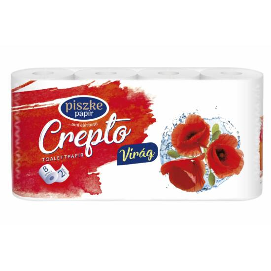 Crepto Virág kistekercses toalettpapír 2rtg M9,5 D10,8 19,55m 170lap cell 8x8tek/gyűjtő