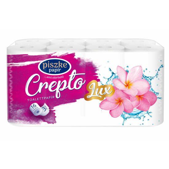 Crepto Lux kistekercses toalettpapír 3 rétegű M9,5 D10,8 17,25m 150lap cell 4x16tek/gyűjtő