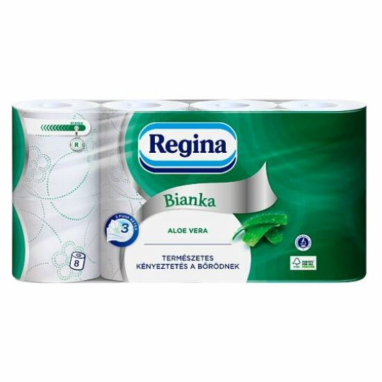 Regina Bianka Aloe kistekercses toalettpapír 3rtg M9,5 D11 16,5m 150lap cell 8x8tek/gyűjtő