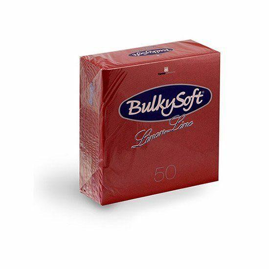 BulkySoft Linen Line arlaid szalvéta piros 1rtg 40x40cm 10x50db/gyűjtő