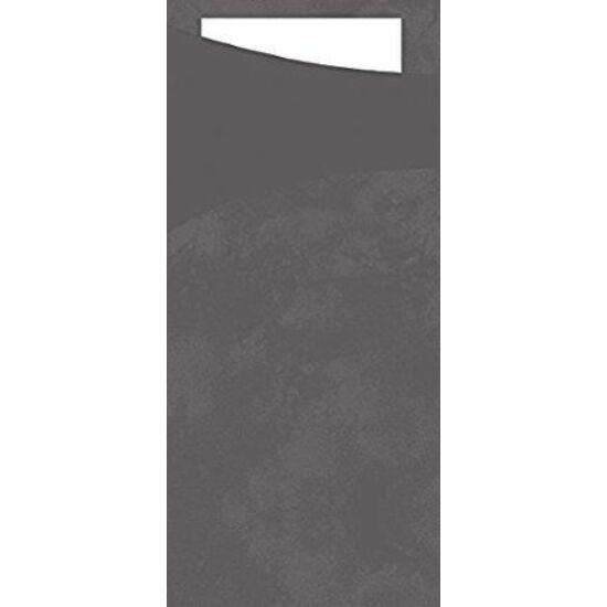 Duni sacchetto Granite grey/fehér 19x8,5cm 5x100db/gyűjtő