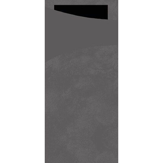 Duni sacchetto Granite grey/fekete 19x8,5cm 5x100db/gyűjtő