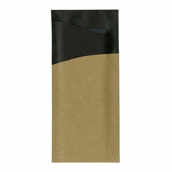 Duni sacchetto fekete/barna 19x8,5cm 5x100db/gyűjtő