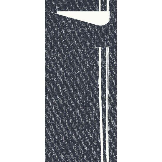 Duni sacchetto Plate it Black/fehér 19x8,5cm 5x100db/gyűjtő
