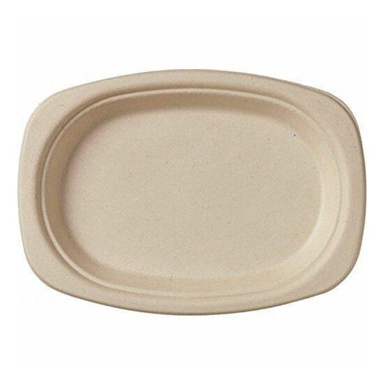 Duni Ecoecho Bagasse ovális tányér barna 22cm 10x50db/gyűjtő
