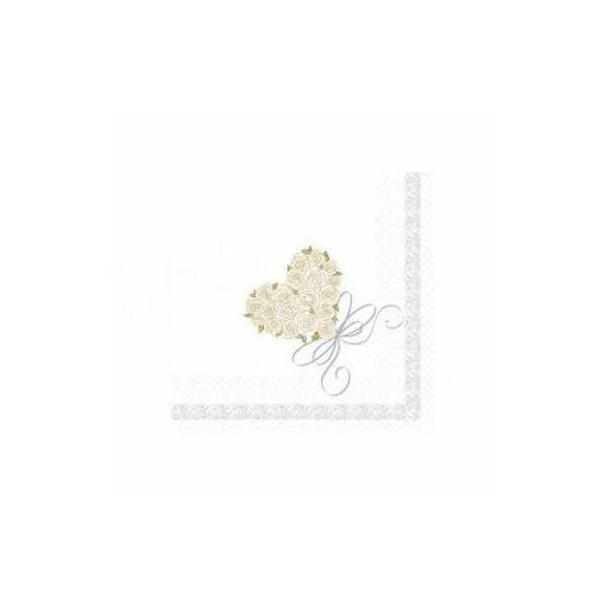 Dunisoft szalvéta Heart 40x40cm 6x60db/gyűjtő