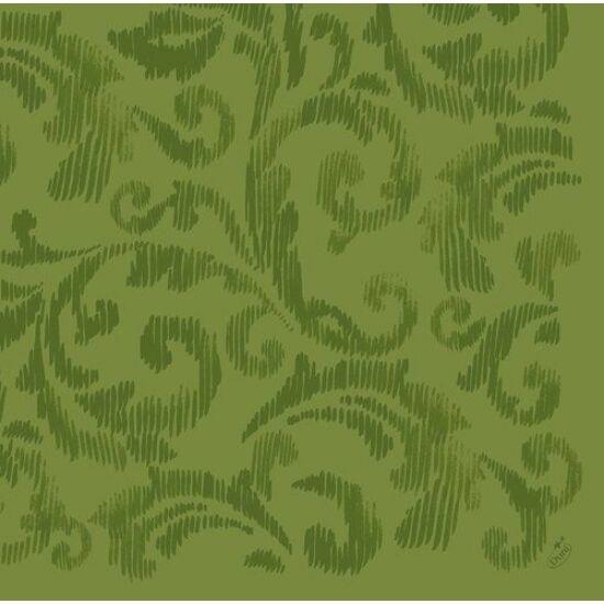 Dunilin szalvéta Saphira leaf green 40x40cm 12x45db/gyűjtő