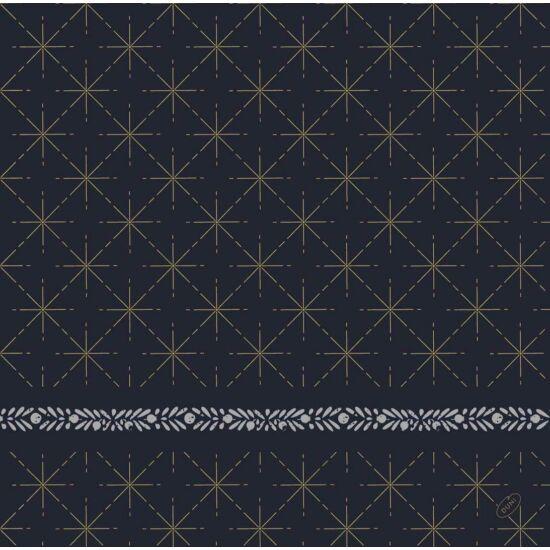Dunisoft szalvéta Glitter black 40x40cm 6x60db/gyűjtő